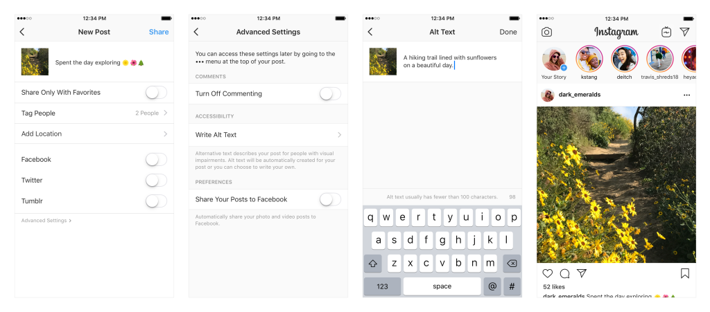 Testo alternativo Instagram