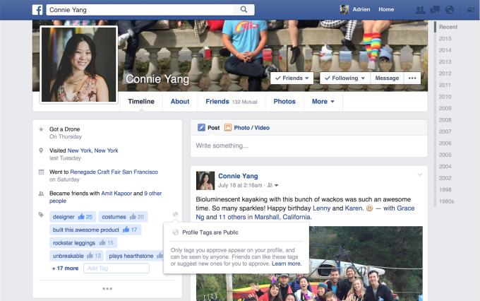 I profile tags di Facebook