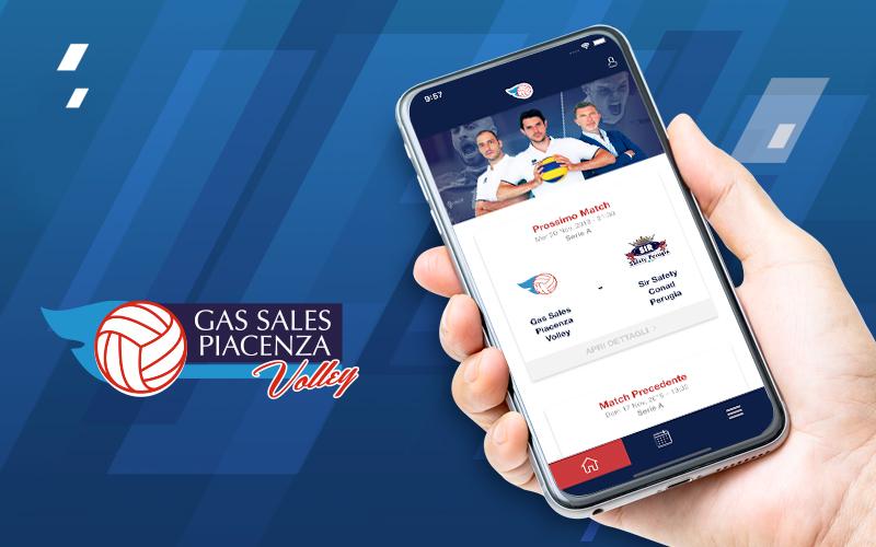 Gas Sales Piacenza Volley: nasce la nuova app per fare squadra